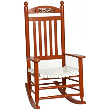 Brilliant Amazon Com Texas Longhorns Rocker Burnt Orange White By Theyellowbook Wood Chair Design Ideas Theyellowbookinfo