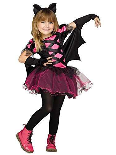 Fun World Big Girl's Bat Queen Witch Toddler Halloween Costume Childrens Costume, Multi, Small