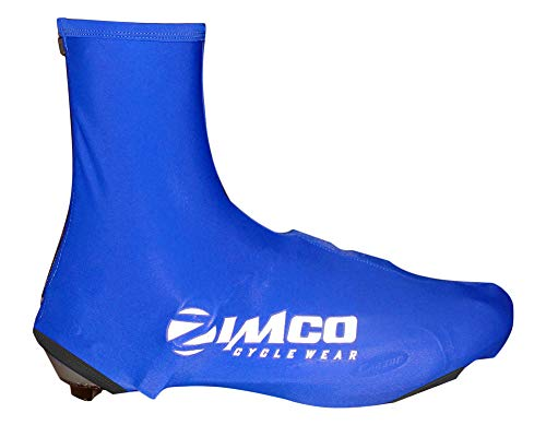 Zimco Lycra Cycling Bicycle Shoe Cover Booties Overshoes with Rear Zipper Blue (S/M) ()
