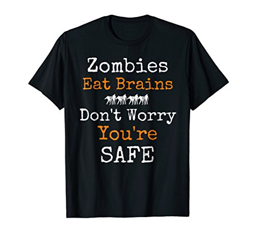 Funny Sarcastic Halloween Zombie Eat Brains Novelty T Shirt -
