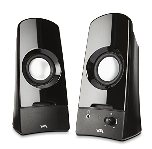 Computer speakers, a powerful 2.0 desktop speaker system from Cyber Acoustics  (CA-2050) by Cyber Acoustics