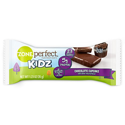 ZonePerfect Kidz Nutrition Bars, No Artificial Flavors or Colors, Chocolate Cupcake, 1.23 oz, 30 (Organic Cupcake)
