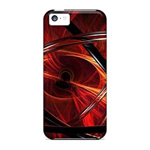 Hot Snap-on 3d View Abstract Red Hard Covers Cases/ Protective Cases For Iphone 5c