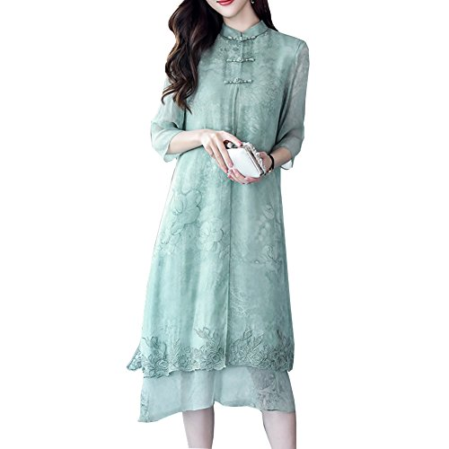 Mujer Verde Para E Vestido girl OaWUwz1