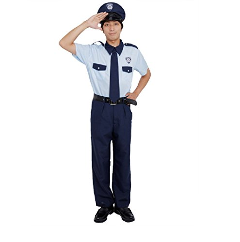 Patymo Casual-Style Police Uniform Costume -- Men's S/M Size - 60s Cop Costume