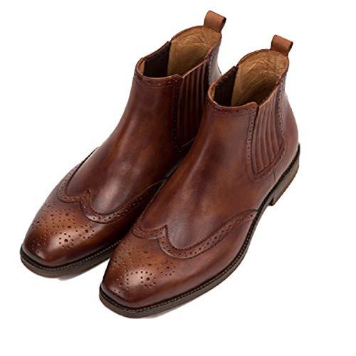 Classico Uomo Red Retro Desert Formale Uomo Martin Autunno Chelsea Brogue Pelle Stivali in Pizzo Inverno E Pelle Boots Nera da in in 8n1Bp