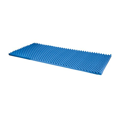 Price comparison product image Duro-Med Foam Bed Topper, Hospital Bed Pad, Foam Bed Pad, Blue, Made in the USA, 33 by 72 by 2 Inches