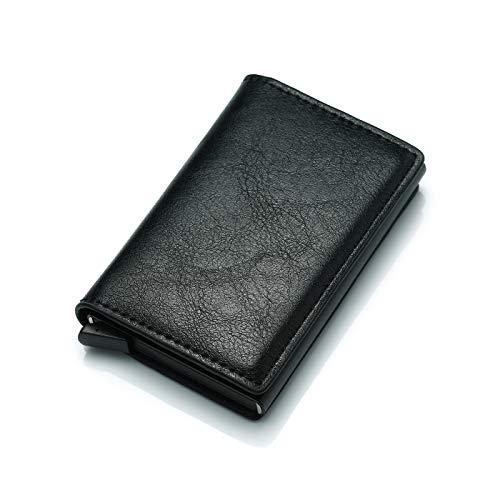 Credit Card Wallet | Best Minimalist Wallet | RFID Blocking Aluminum Card Holder (black)