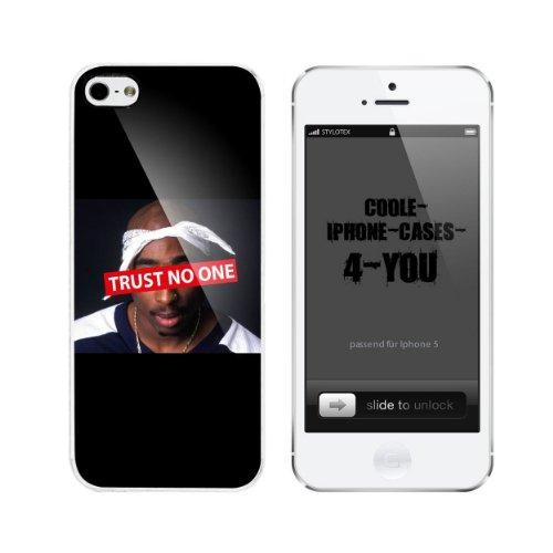 Iphone 5 / 5S Schutzhülle Trust No One - weisser Rahmen