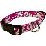 Elmo's Closet Dog Collar - Hawaii Time (Hot Pink) (Large)