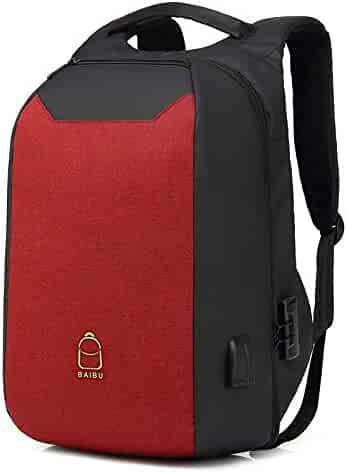 Bags, Cases & Sleeves Color : Black, Size : S EAHKGmh Rolling Backpack Travel Wheeled Laptop Backpack Women Men Trolley Luggage Suitcase Business Bag College School Computer Bag Accessories