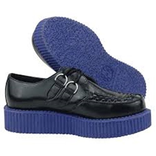 Shoes UNISEX U Blue Leather Mondo A8578 T Creeper Lo K Black Sole TUK HxZIqX6X