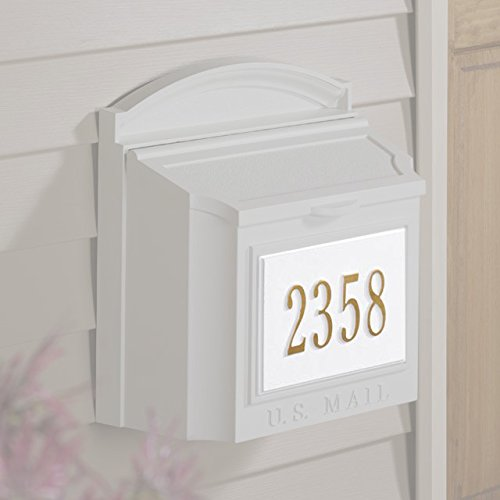 Wall Mailbox Plaque - White - Two Line