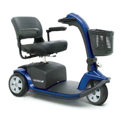 Custom Power Wheelchair (Value Line Victory 3 Wheelchair Scooter Color: Viper Blue, Upholstery: Gray Fabric, Seat: High Back Deluxe Contoured Seat Custom Seat Size)