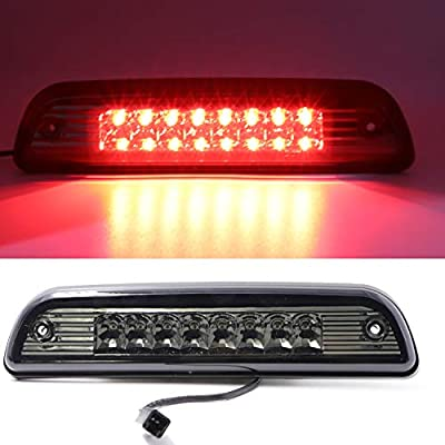 For 1995-2015 Toyota Tacoma High Mount LED 3rd Brake Light Third Light Brake CHMSL Center Light (Electroplate Cover Smoke Lens): Automotive