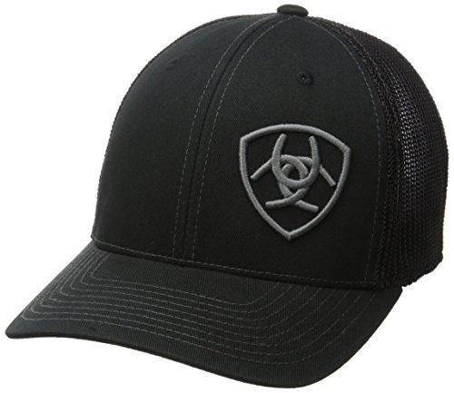 ARIAT Men's Solid Black Corner Logo, One Size from ARIAT