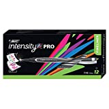 BIC Intensity Marker Pen, Fine Point (0.5mm), Black, 12-Count (packaging may vary)