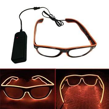 659bd56b1e Gafas de Sol Luminosas LED, Gafas de Sol Brillantes, Gafas de Alambre EL,  ...