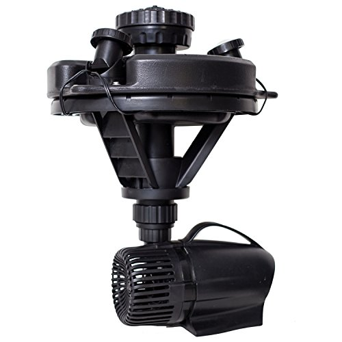 Pond Boss DFTN12003L Floating Fountain With Lights, 50 Foot Power Cord, 1/4 hp (Mesh 8' Head)