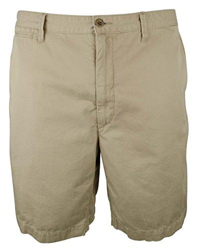(Polo Ralph Lauren Mens Big & Tall Twill Classic Fit Khaki Shorts 48B Boating Khaki)