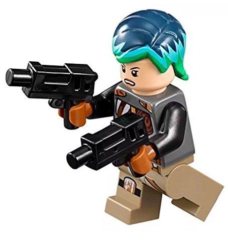 (MINI LEGO Star Wars Rebels Minifigure - Sabine Wren with Bright Hair Dual Blasters (75150))