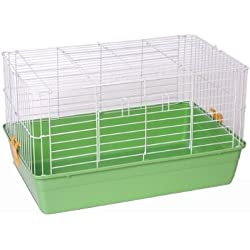Prevue Hendryx 6.5 Deep Small Animal Habitat Tubby Cage With Green Base 522