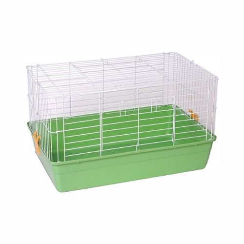 Prevue Hendryx 6.5 Deep Small Animal Habitat Tubby Cage With Green Base 522 (Prevue Hendryx Small Animal Playpen)