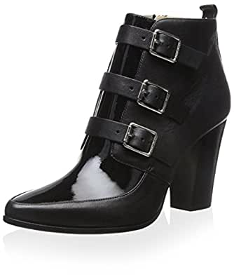JIMMY CHOO Women's Hutch Bootie, Black, 38.5 M EU/8.5 M US