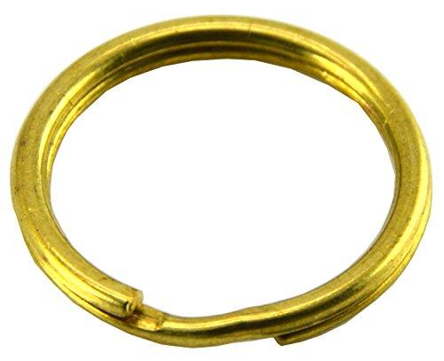 Okones Pack of 30 Pcs,1'' Diameter,Leather handmade Factory Split Solid Brass Antique Key Ring (1'' (25mm)) by Okones Art
