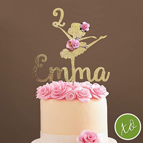 Ballerina Cake Topper, Ballerina Centerpieces, Ballerina Party Birthday Decorations - Custom Ballerina Cake Topper ()