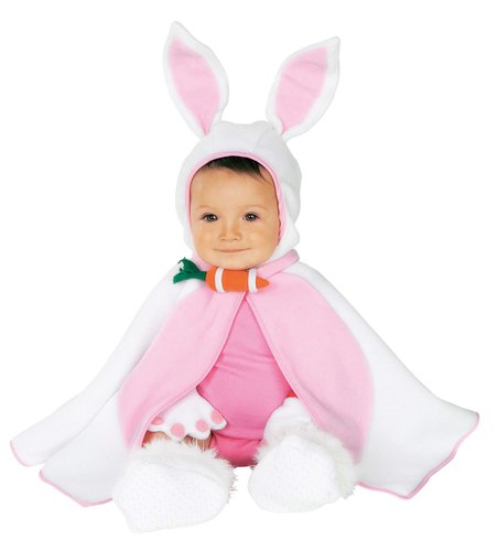 9-12 Month Old Halloween Costumes (Rubie's Costume Co Baby Girl's Caped Cutie Lil' Bunny Costume, Pink/White, 6-12 Months)