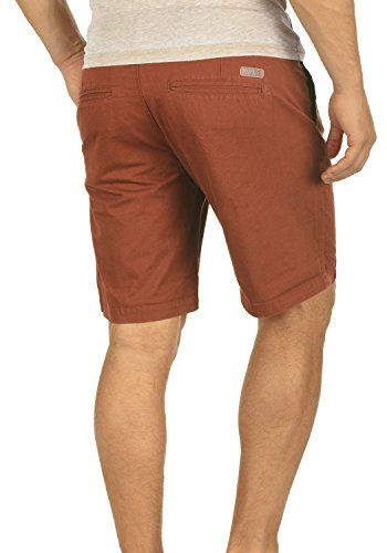 Homme 6792 Brown Court Coupe Chino Short Thement Pantalon solid Pour 100 Coton Bermuda Regular Fox w06pxBq