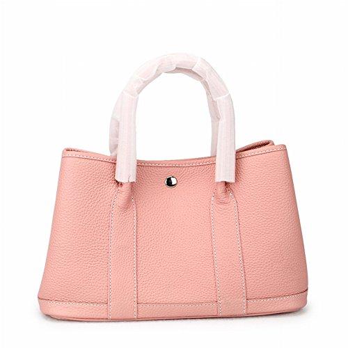 Weibliche Tasche Litschi Erste Schicht aus Leder Mode Handtasche Schultertasche , Rosa