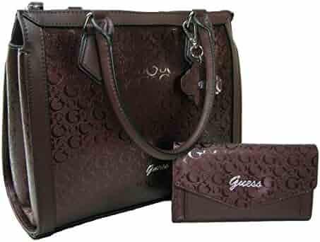 ad5048638 New Guess G Logo Purse Satchel Crossbody Hand Bag & Wallet Matching Set 2  Piece Wine