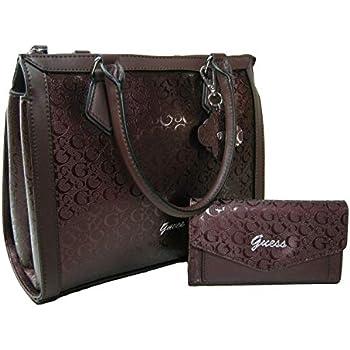 New Guess G Logo Purse Satchel Crossbody Hand Bag   Wallet Matching Set 2  Piece Wine 7272704db405a
