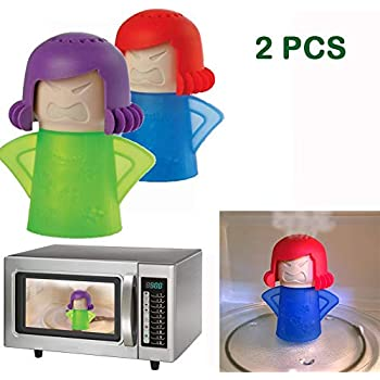 Abnaok Microwave Steam Cleaner, 2 PCS Angry Mama Microwave Oven Steam Cleaners Easily Clean in Minutes Disinfects With Vinegar and Water for Home or Office(Angry Mama Set of 2)