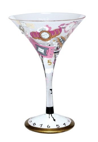 (Lolita Glassware, 5 O'Clock Somewhere Martini Glass)