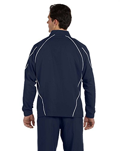 Prestige Blu A Team Intera Marino giacca bianco Athletic Men's Russell Zip 8AqOqET