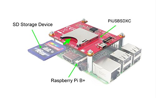(Ableconn PIUSBSDXC USB 2.0 to SD 3.0 (SDXC) Converter Stackable Board for Raspberry Pi)