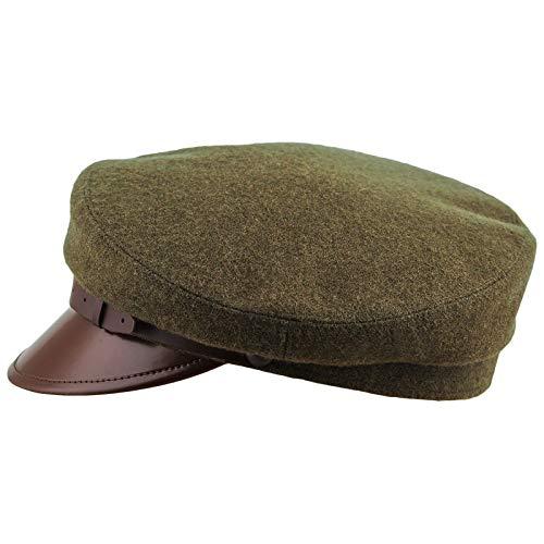 Sterkowski Wool Cloth Peaked Breton Style Maciejowka Cap US 7 1/4 Khaki (Green Wva)