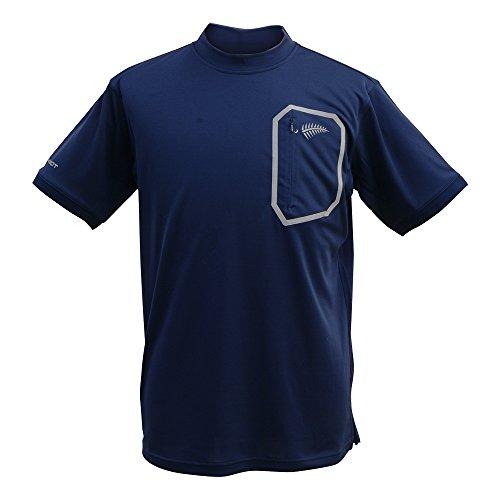 フリーノット(FREE KNOT) 冷感 ヒョウオン モックネックシャツ M ネイビー. Y1518-M-80の商品画像