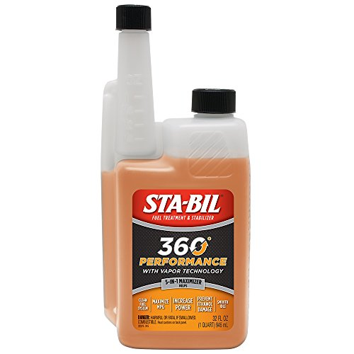 STA-BIL (22275) 360° Performance with Vapor Technology, Fuel Treatment and Stabilizer, 32 Fl. oz (Fuel Stabilizer Yamaha)