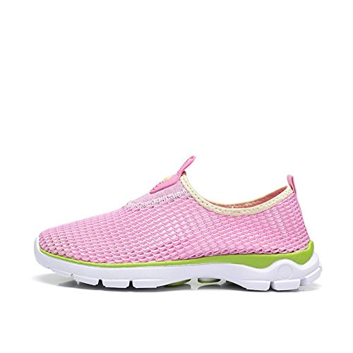 Camel Womens Lightweight Breathable Quick Dry Slip-on Mesh Running Shoes,Walk,Beach Aqua,Outdoor,Exercise,Athletic Sneakers Pink
