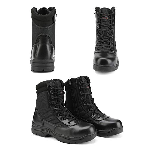 NORTIV 8 Men's Safety Steel Toe Work Boots Industrial Anti-Slip Tactical Bootie