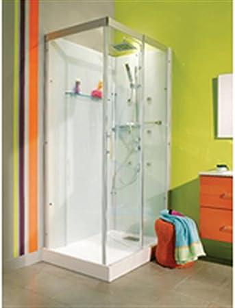 DOMINO cabina completa, rectangular, 110 x 80 cm, versión confort ref CA209: Amazon.es: Bricolaje y herramientas