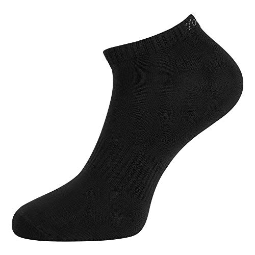 Toes&Feet Men's 1-Pack Black Antibacterial Sweat Wicking No-Show Sports Socks