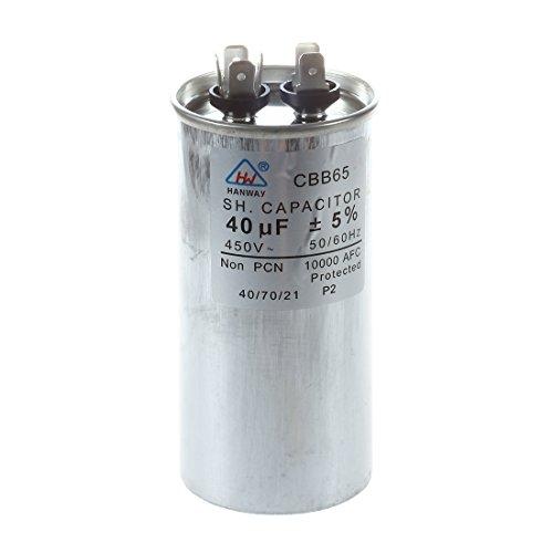 Aire Acondicionado SODIAL (R) 40uf AC 450 V 50/60 Hz Motor condensador cbb65a-1: Amazon.es: Bricolaje y herramientas