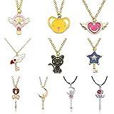 fashionAnime Cardcaptor Sakura Sailor Moon Necklace Cartoon Card Captor Heart Wand Cat Rabbit Bird Necklaces Pendants Jewelry for Kids
