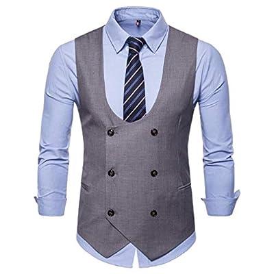 NRUTUP British Suit Vest Men's Button Casual Basic Business Chemise Print Sleeveless Autumn Winter Jacket Coat Blouse New