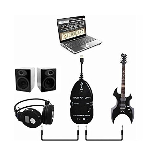kasstino usb guitar interface link cable audio adapter for